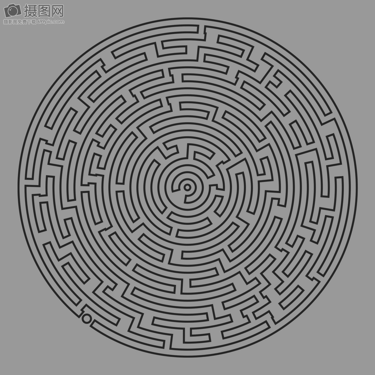 Circular labyrinth photo image_picture free download ...