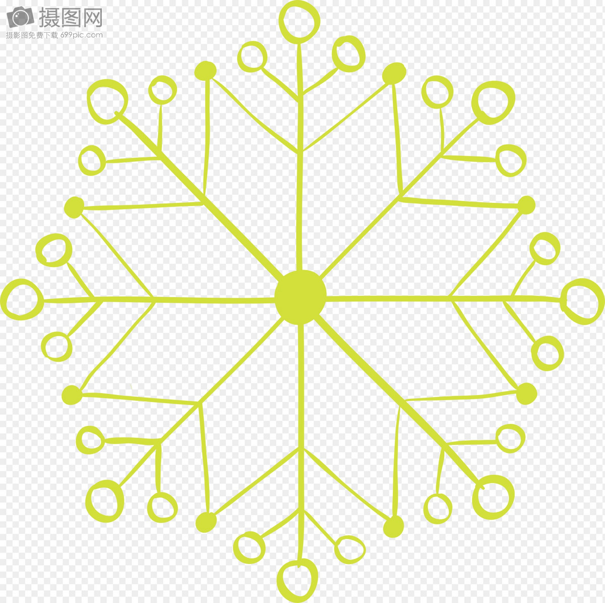 green snowflake design template images graphic elements pictures