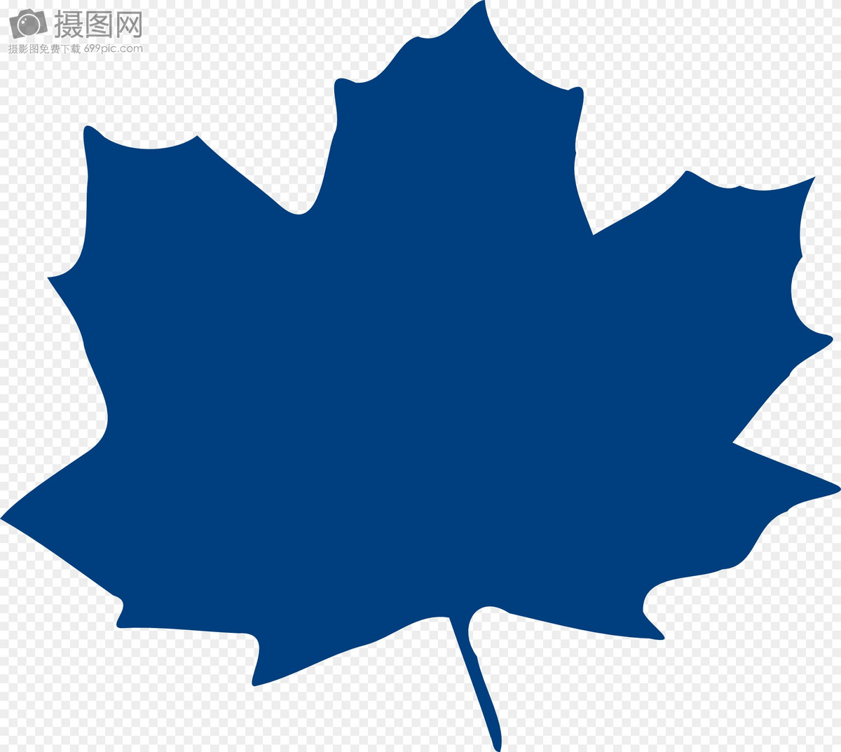 Blue Maple Leaf Template Imagesgraphic Elements Pictures