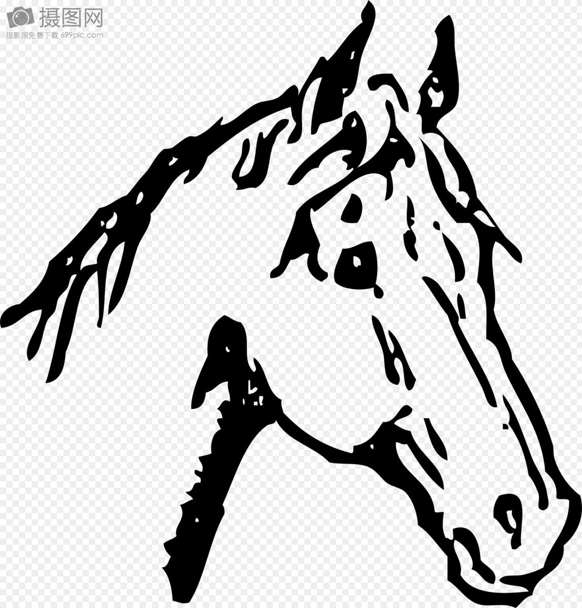 Sketsa kepala kuda