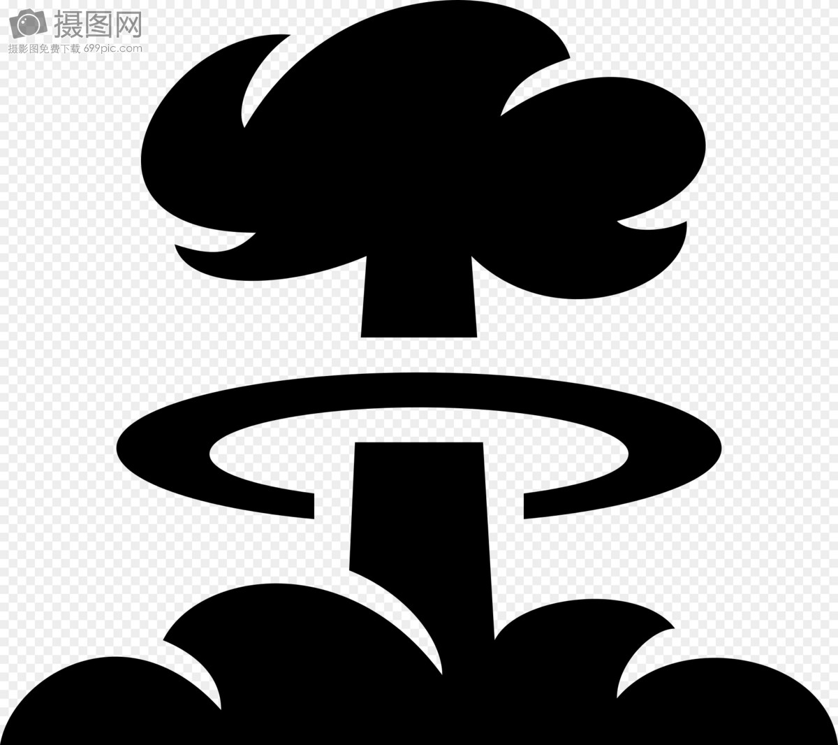 Atomic Bomb Silhouette Graphics Imagepicture Free Download