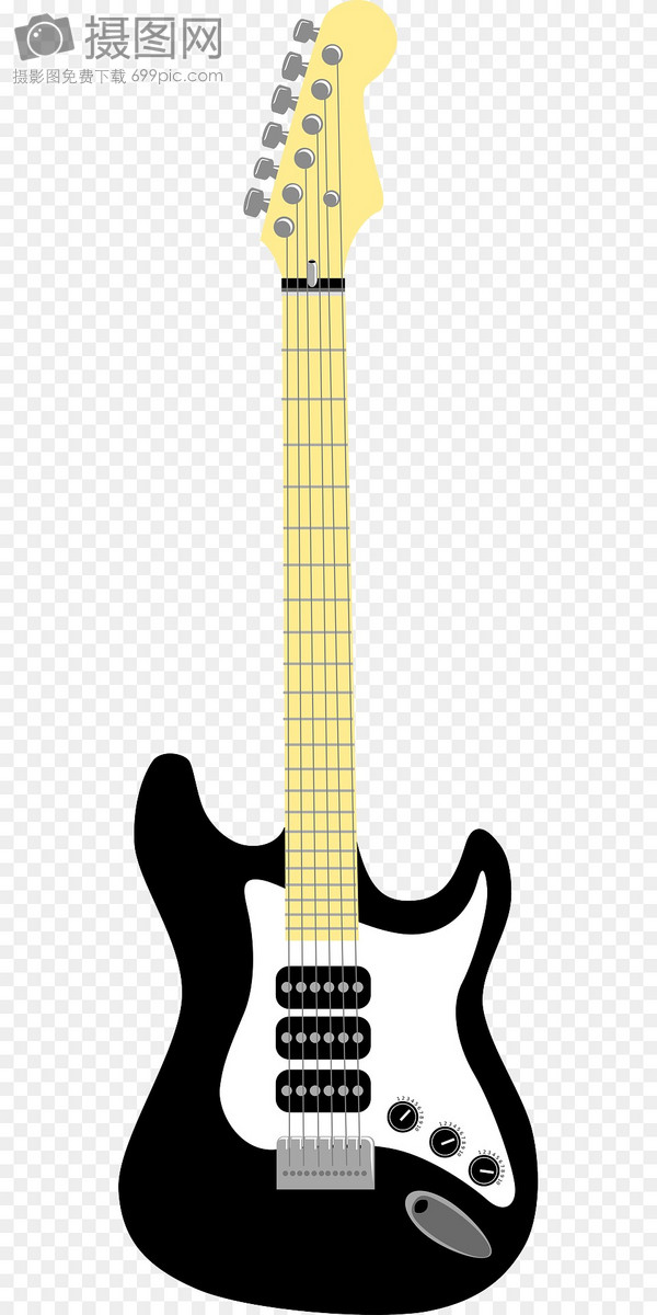 Black And White Electric Guitar Graphics Image Picture Free Download