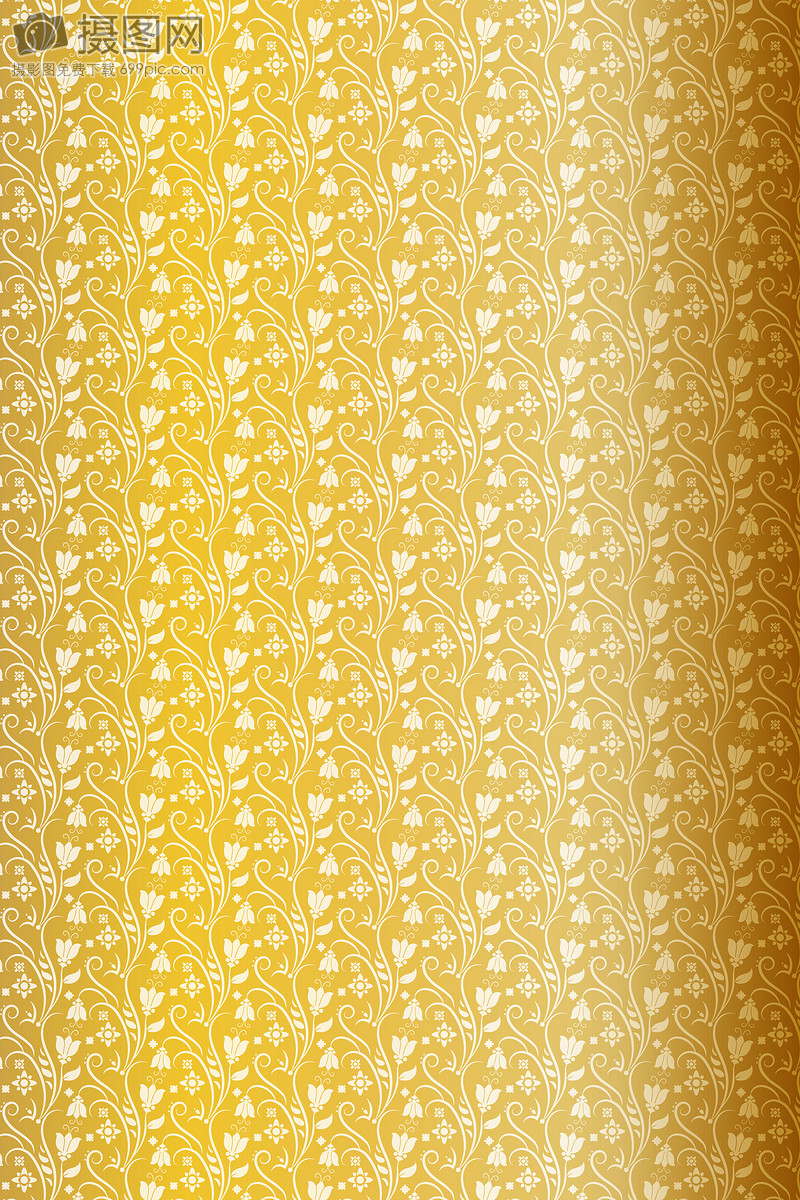 Gold Decorative Wallpaper Pattern Vector Material Backgrounds