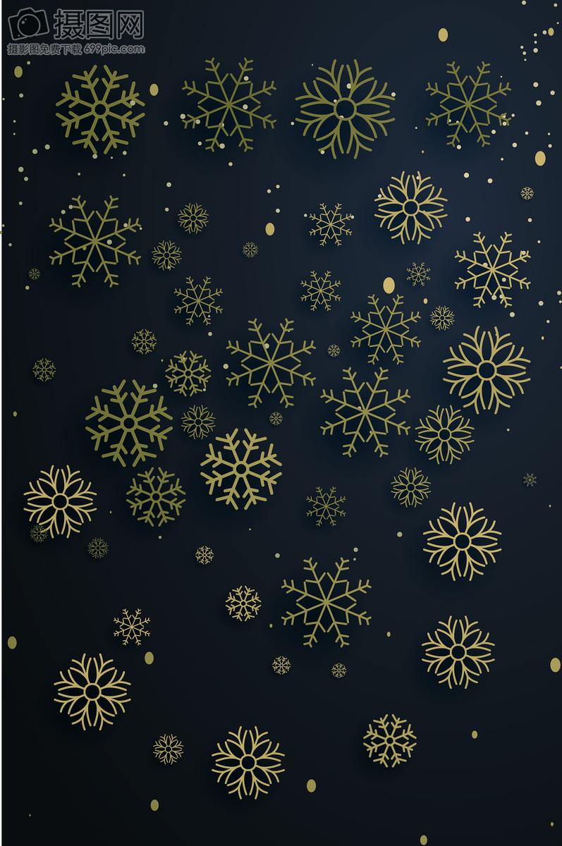 christmas golden snowflakes