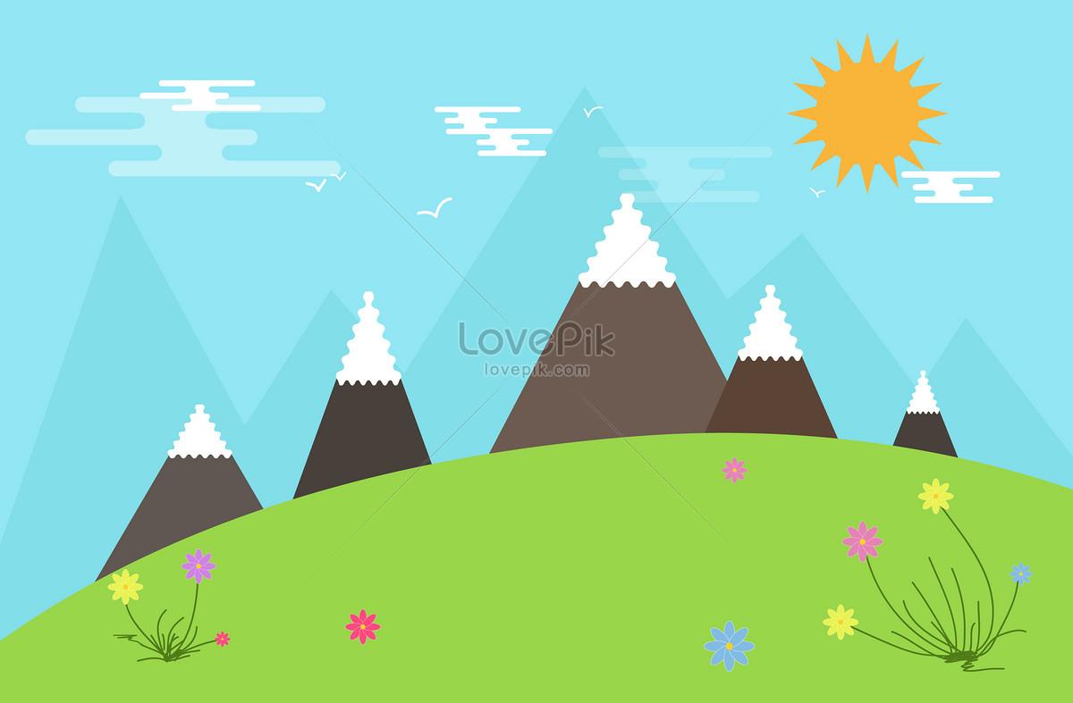 Gambar Kartun Gunung Wwwtollebildcom