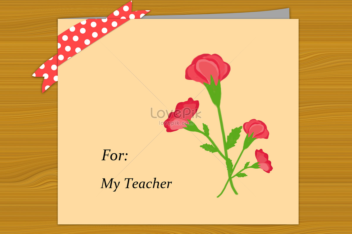 A Teachers Card On A Board Illustration Imagepicture Free Download