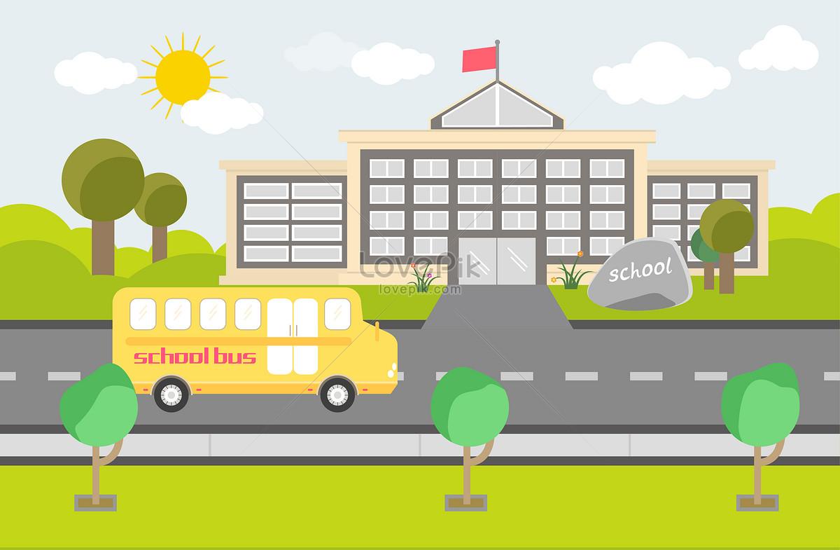 Sekolah Kartun Gambar Unduh Gratisimej 400059195format Aimy