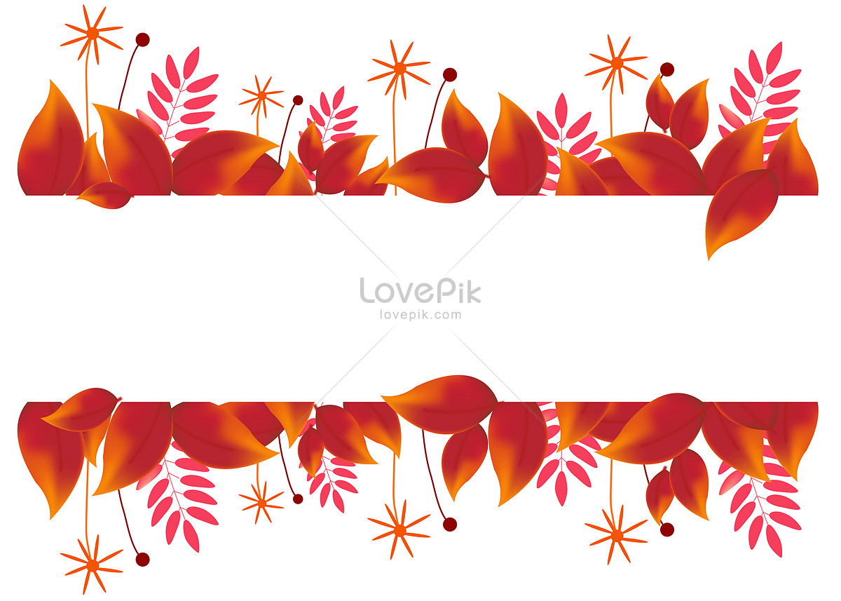 Hand-painted maple leaf decoration frame template image_picture free ...