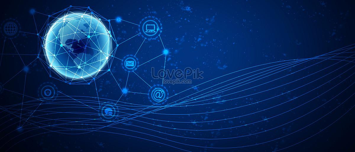 The background of internet communication technology ...