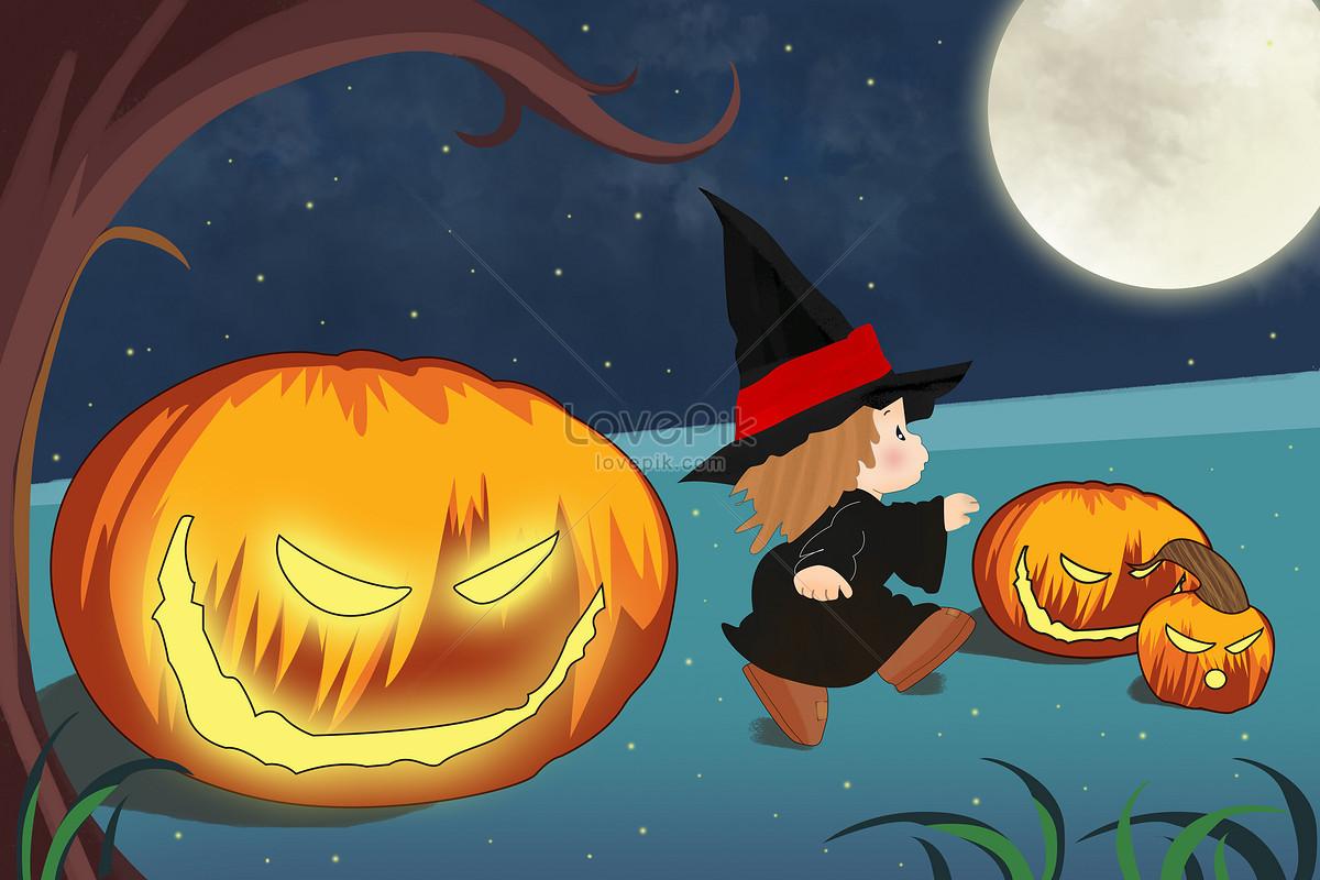 halloween cartoon illustrations illustration image picture free