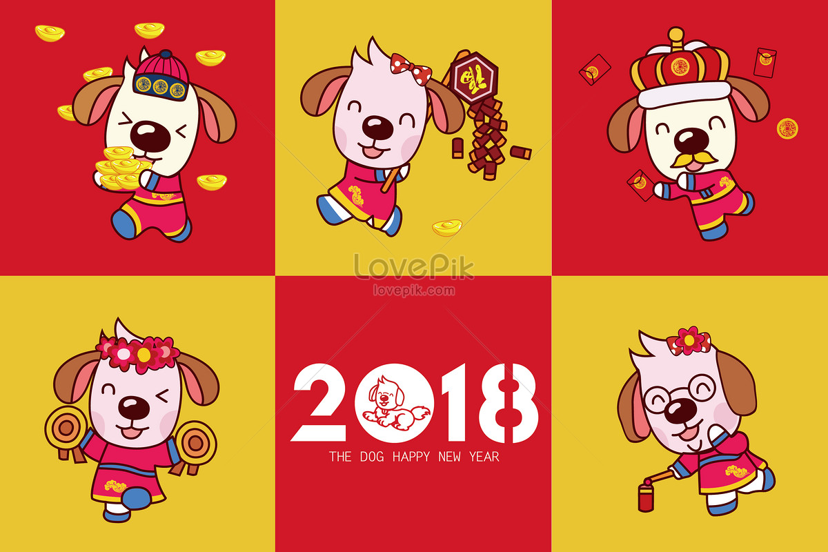 2018 cartoon dog collection