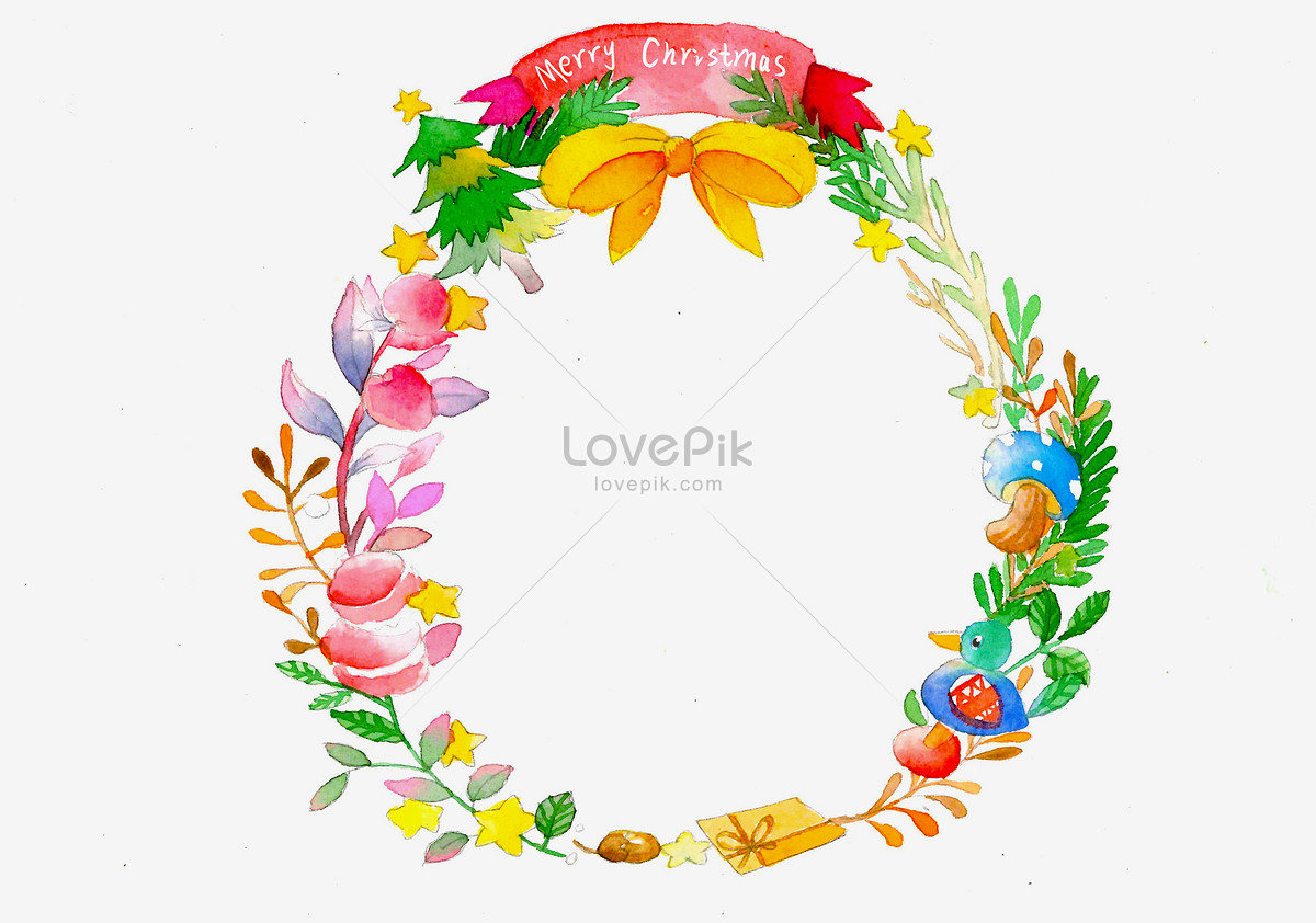 Christmas garland illustration image_picture free download ...