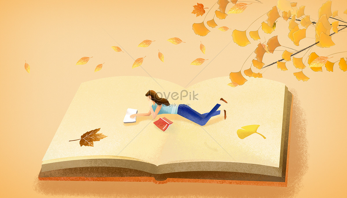 A cure for a girl reading a book photo image_picture free download ...
