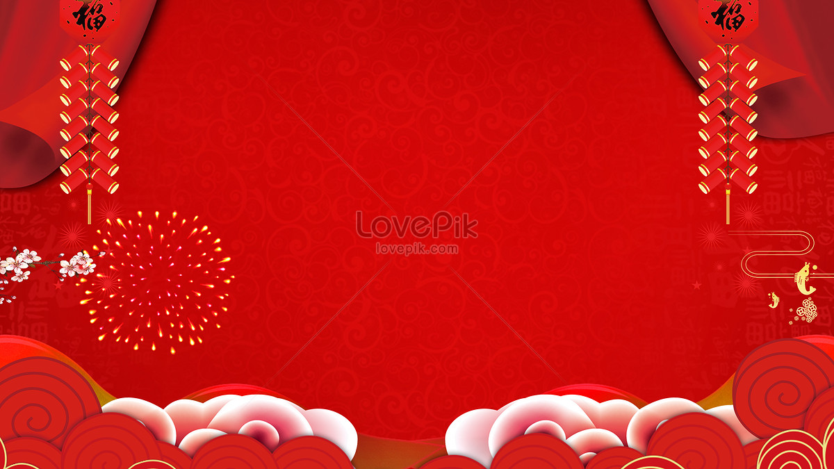 Red Festival Chinese New Year Background Backgrounds Image