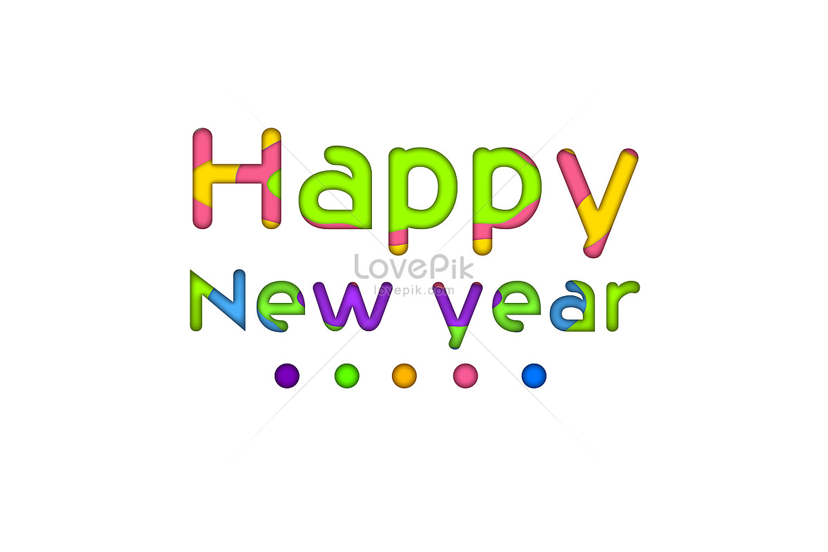 Fun paper-cut new year 2018 words effect graphics image_picture free ...