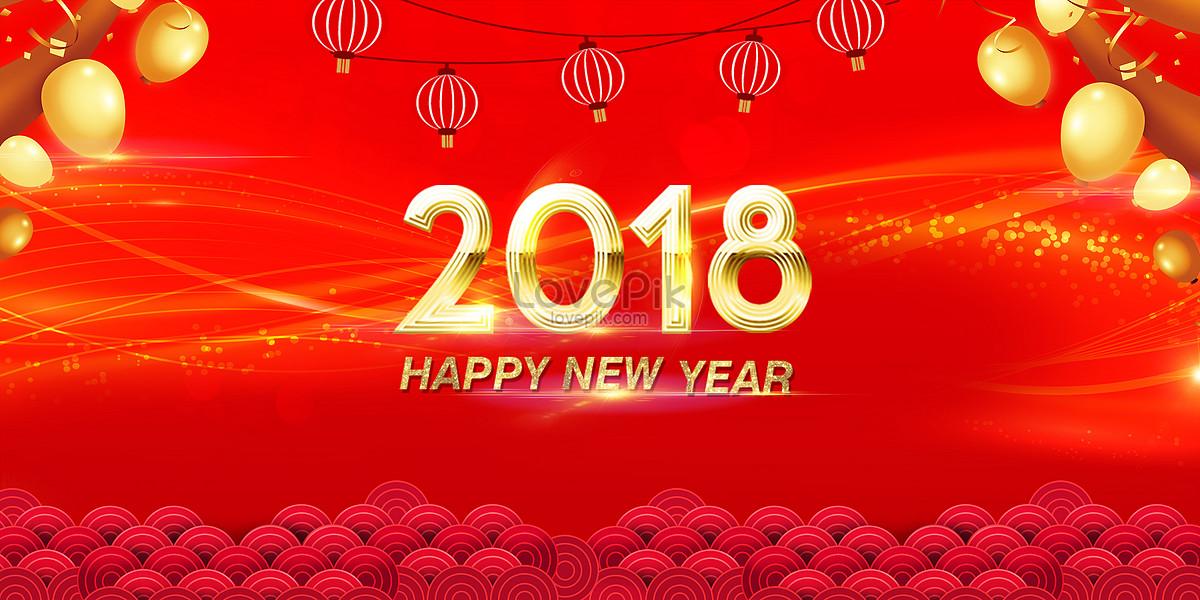 2018 new years new years greeting background