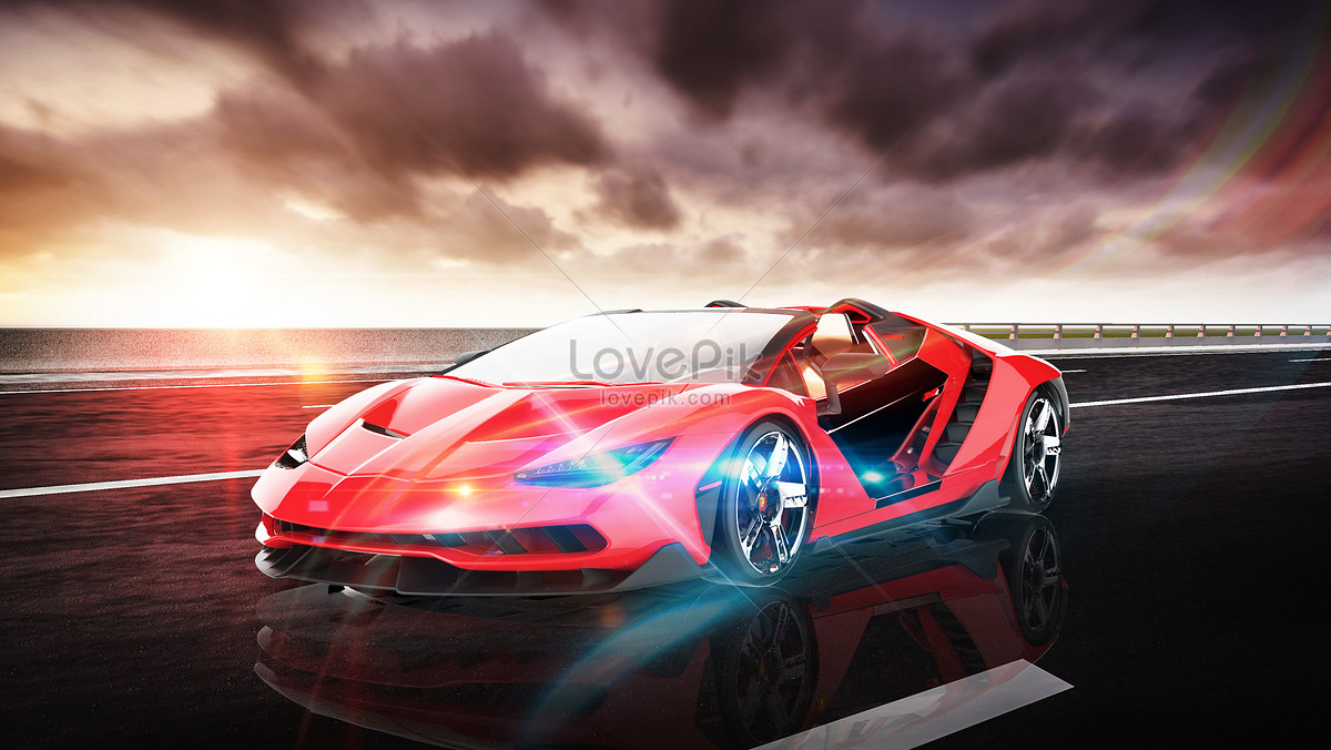 Super Cool Sports Car Background Creative Image Picture Free