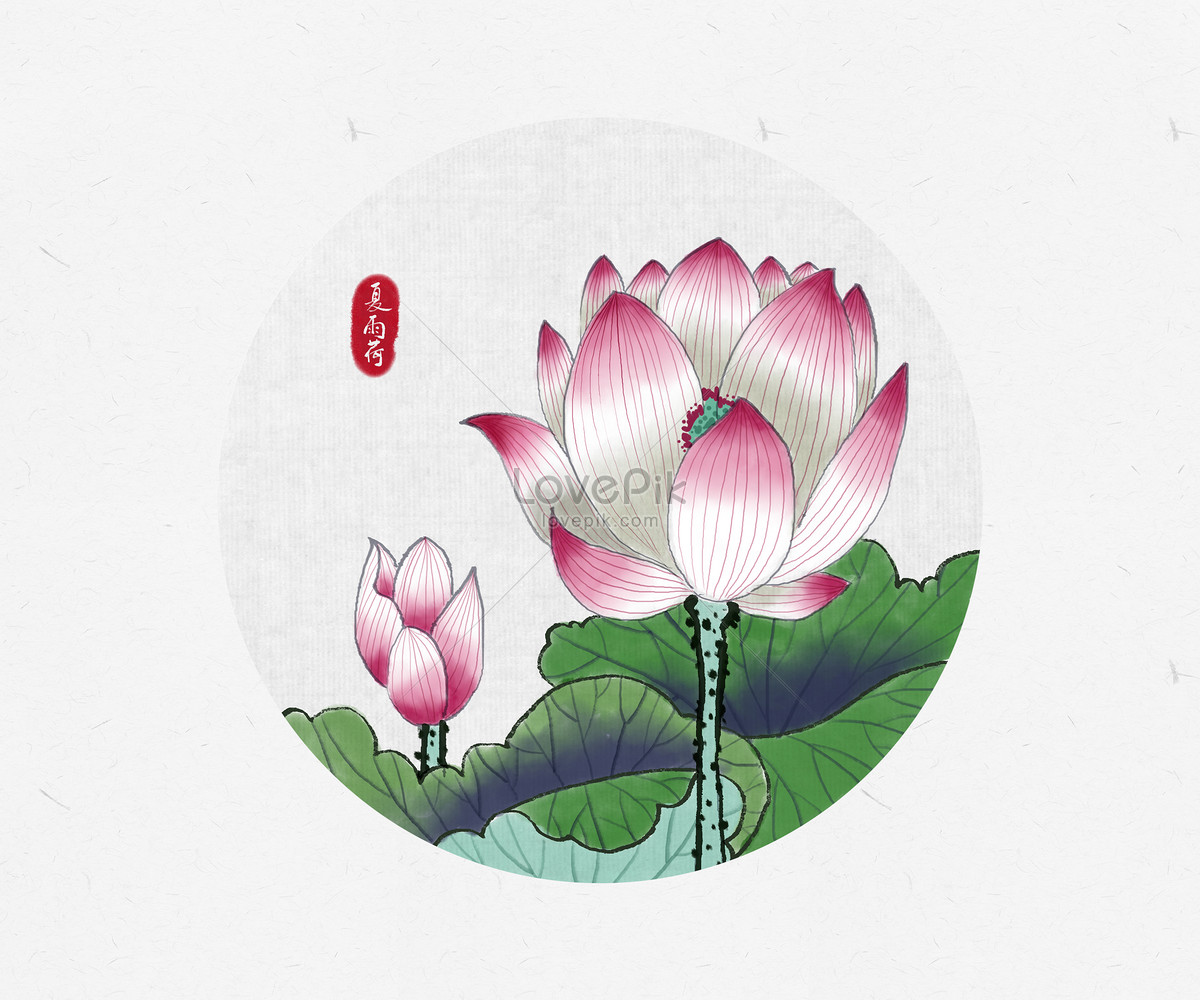 Chinese Wind And Ink Painting Of Lotus Photo Imagepicture Free