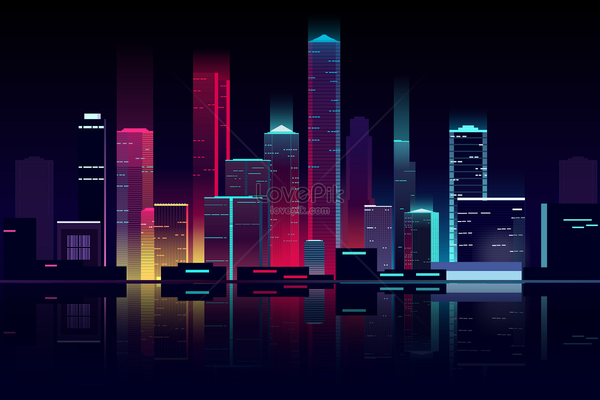 flat vector city building illustration image picture free