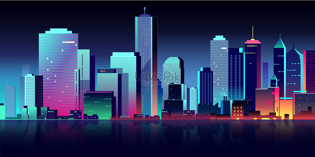 flat vector city building illustration image picture free download