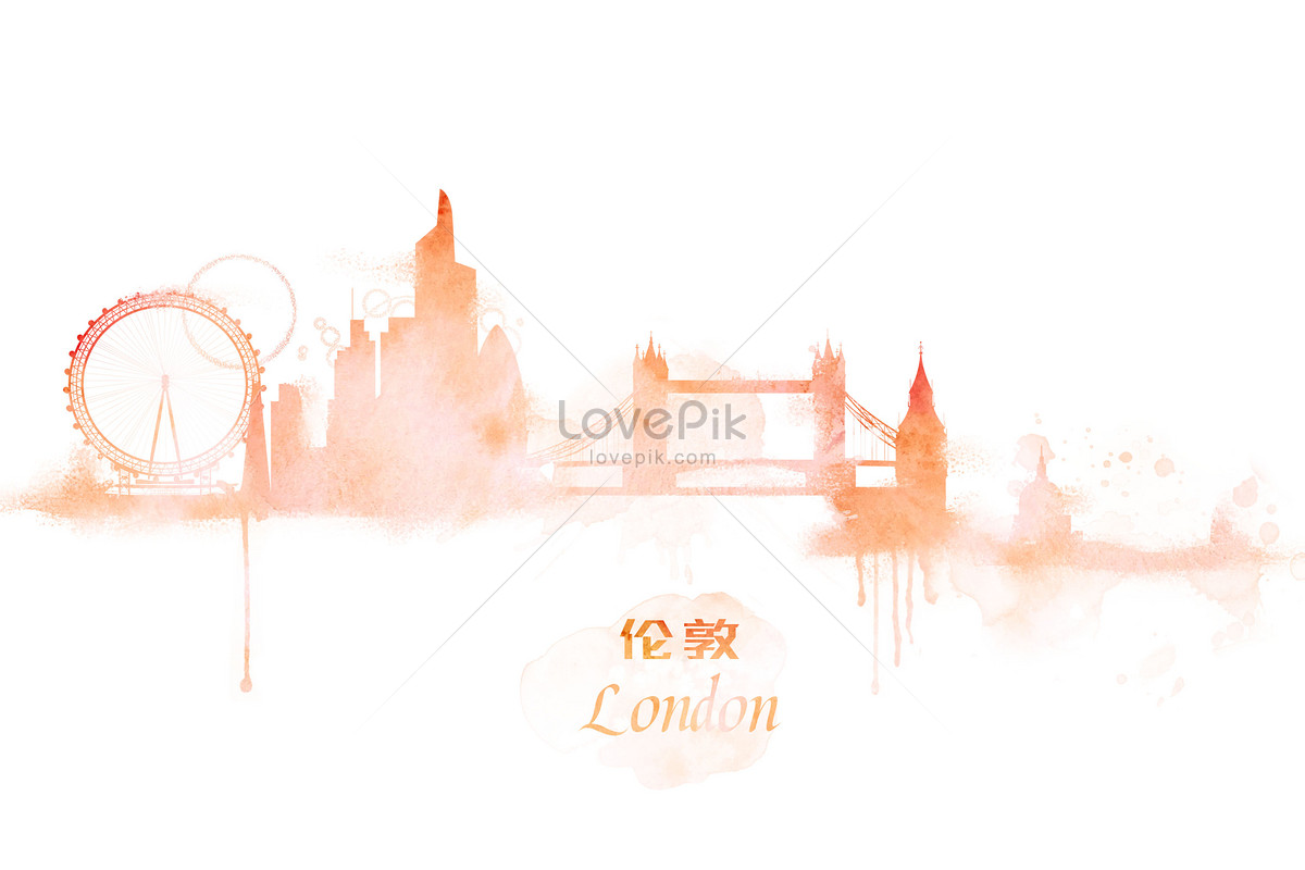 london watercolor illustrations photo image picture free download