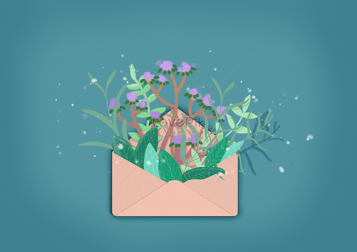 Flowers In The Envelope Photo Imagepicture Free Download