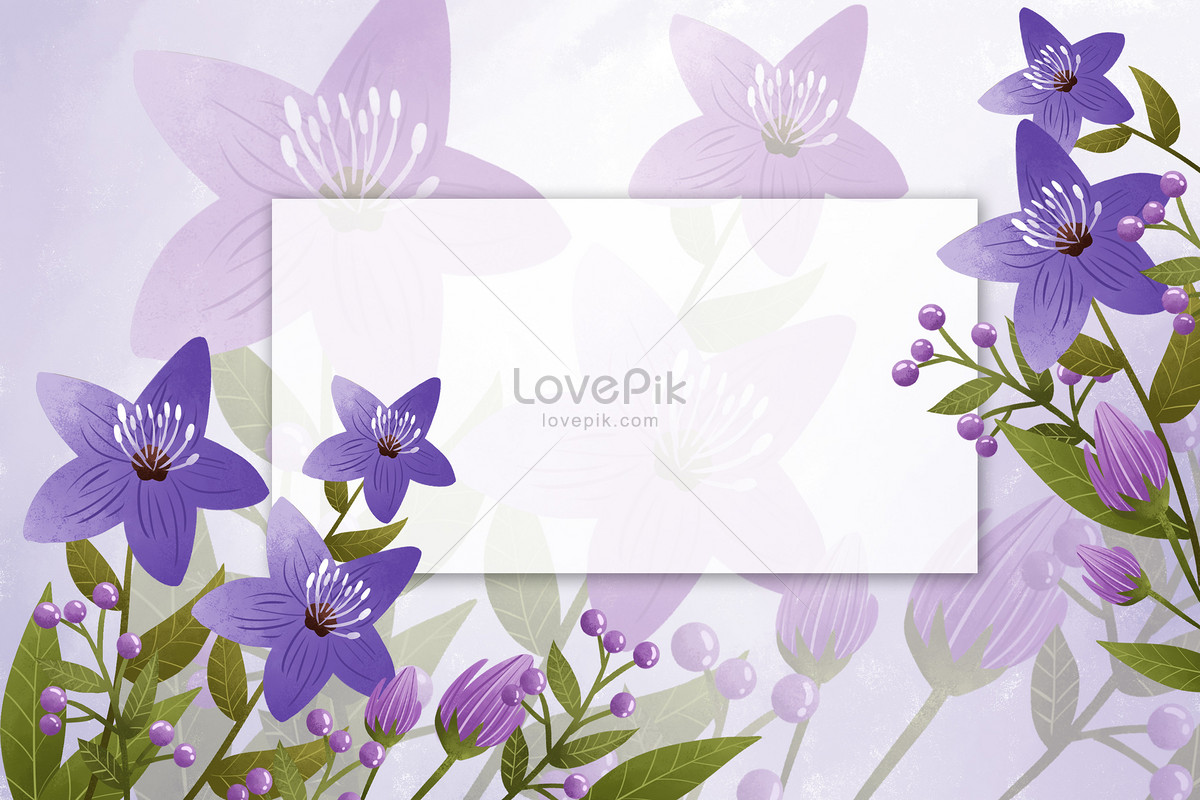 Beautiful purple flower border background photo imagepicture free beautiful purple flower border background izmirmasajfo