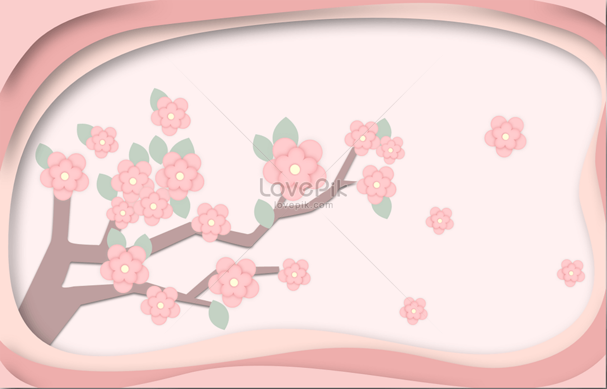 Paper Cut Cherry Blossoms Photo Imagepicture Free Download