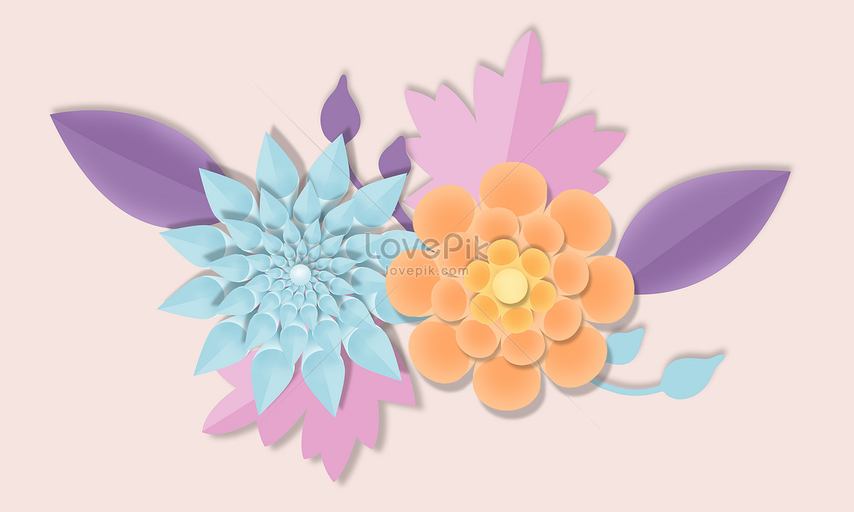 Simple paper cut style flowers photo imagepicture free download simple paper cut style flowers mightylinksfo