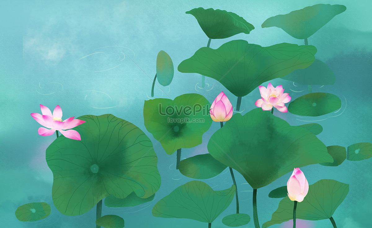 Dream lotus pond photo image_picture free download.