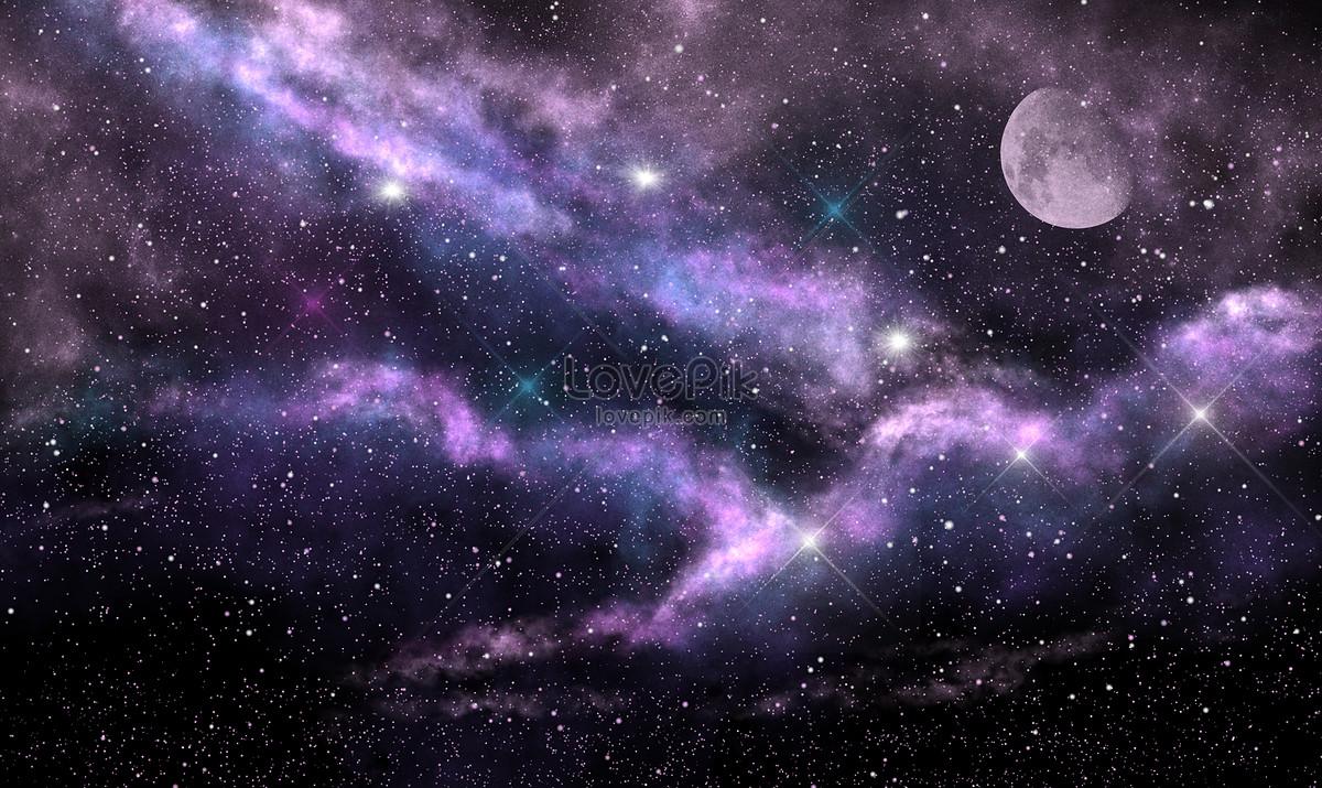 mặt trăng nền bầu trời đầy sao ảnh
