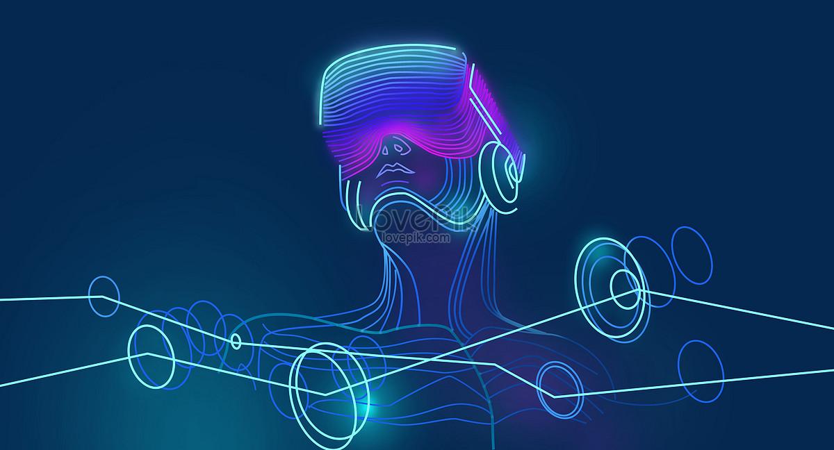vr intelligent technology background creative image