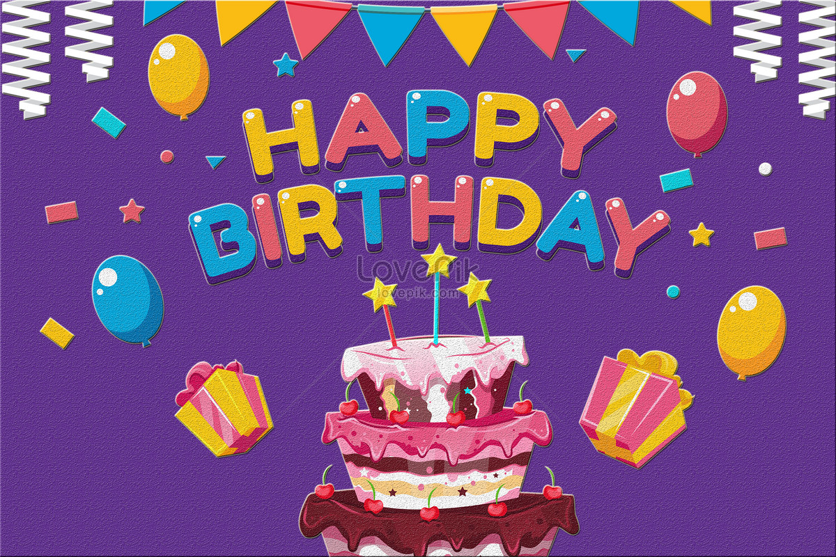 Birthday Card Illustration Imagepicture Free Download