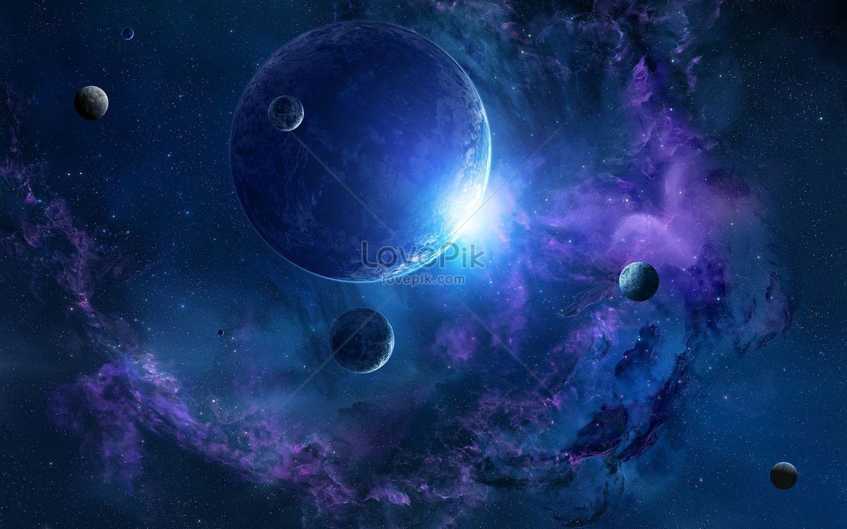 science fiction universe background creative image picture free