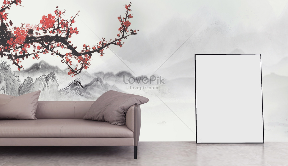 chinese wind tv background wall creative image picture free download