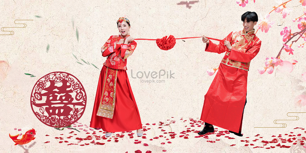 Chinese Wedding Background Creative Image Picture Free Download