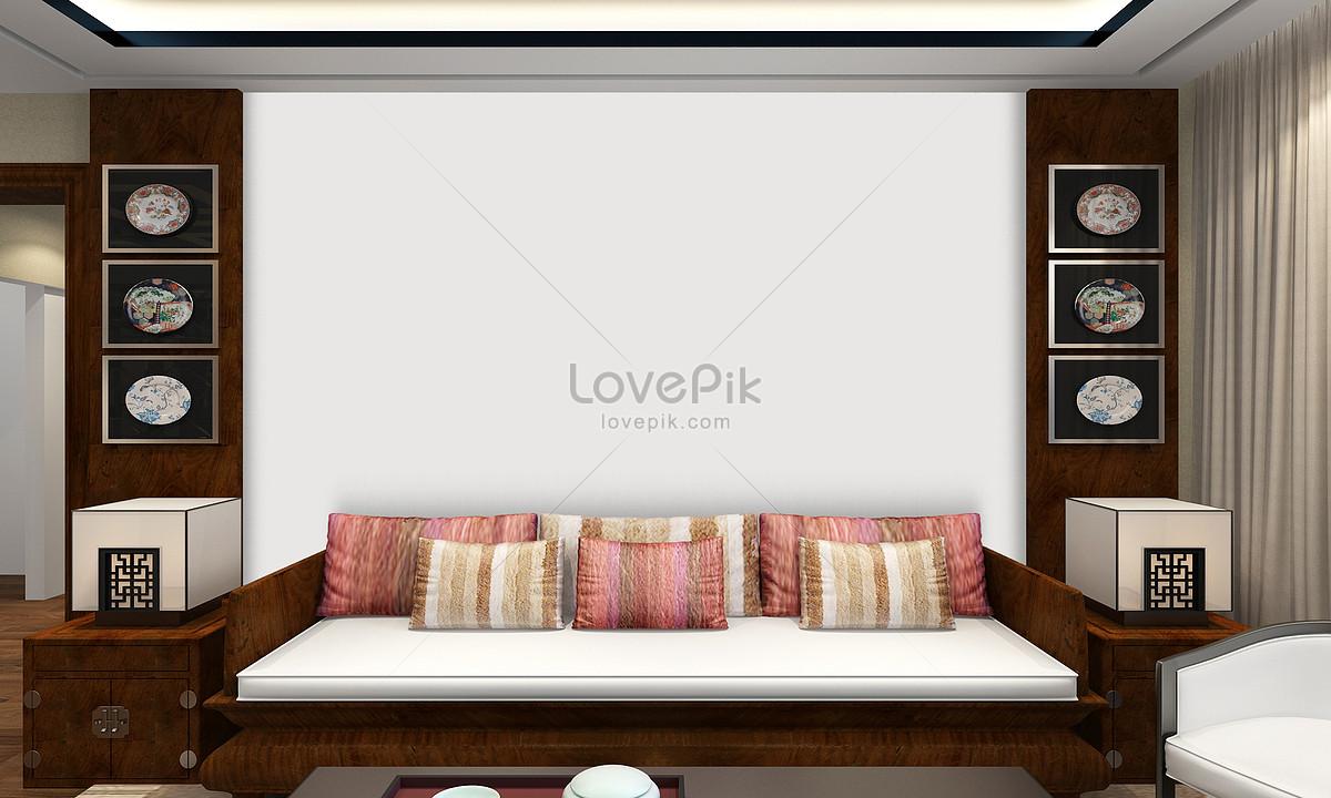Sampler Dinding Latar Belakang Sofa Gambar Unduh Gratis Imej