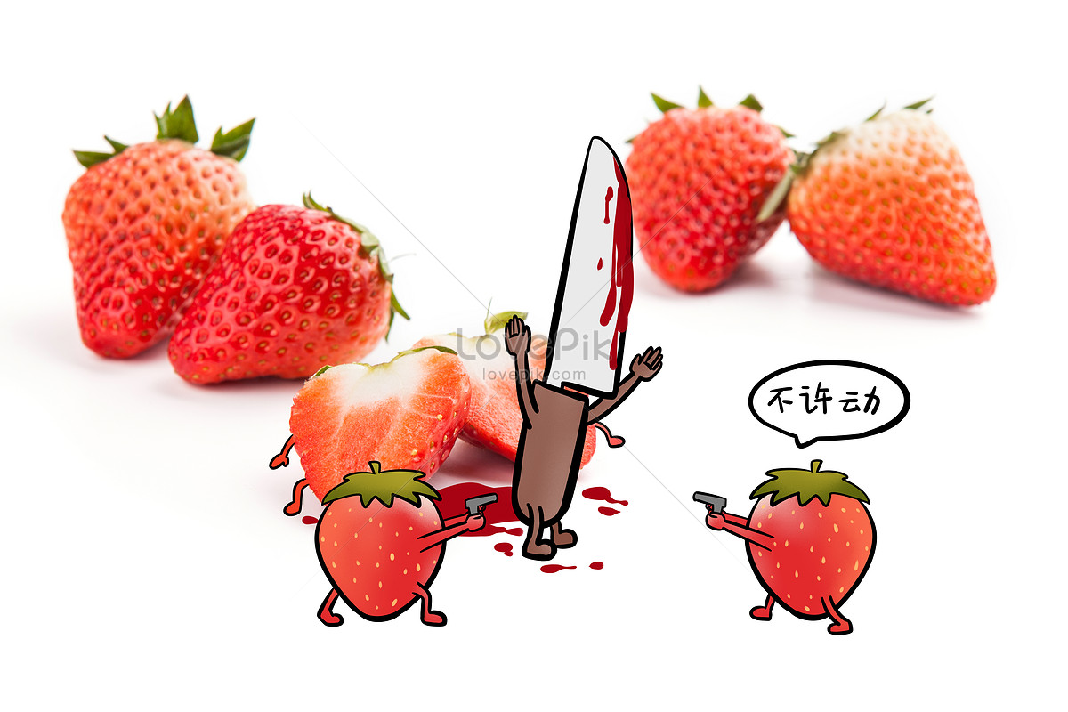 contoh gambar mewarnai buah strawberry warna warni gambar