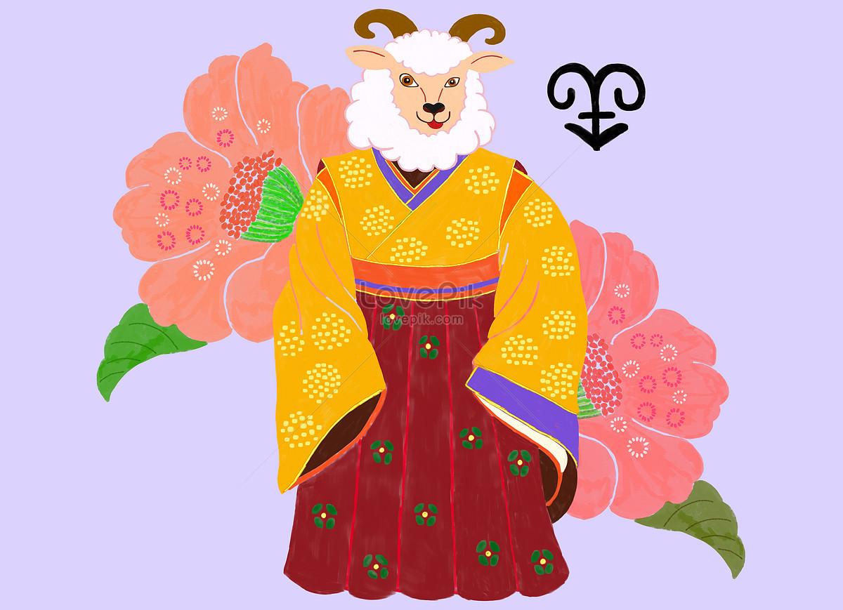 Domba Zodiak Gambar Unduh Gratis Ilustrasi 401037874 Format Gambar