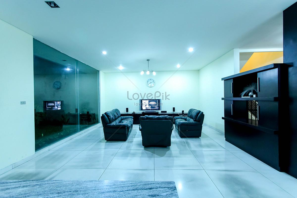 Sofa Ruang Tamu Hitam Gambar Unduh Gratis Foto 500025426 Format