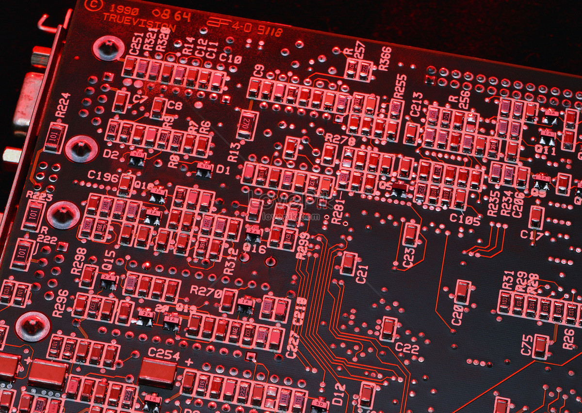 Small Parts On The Circuit Board Photo Image Picture Free Download