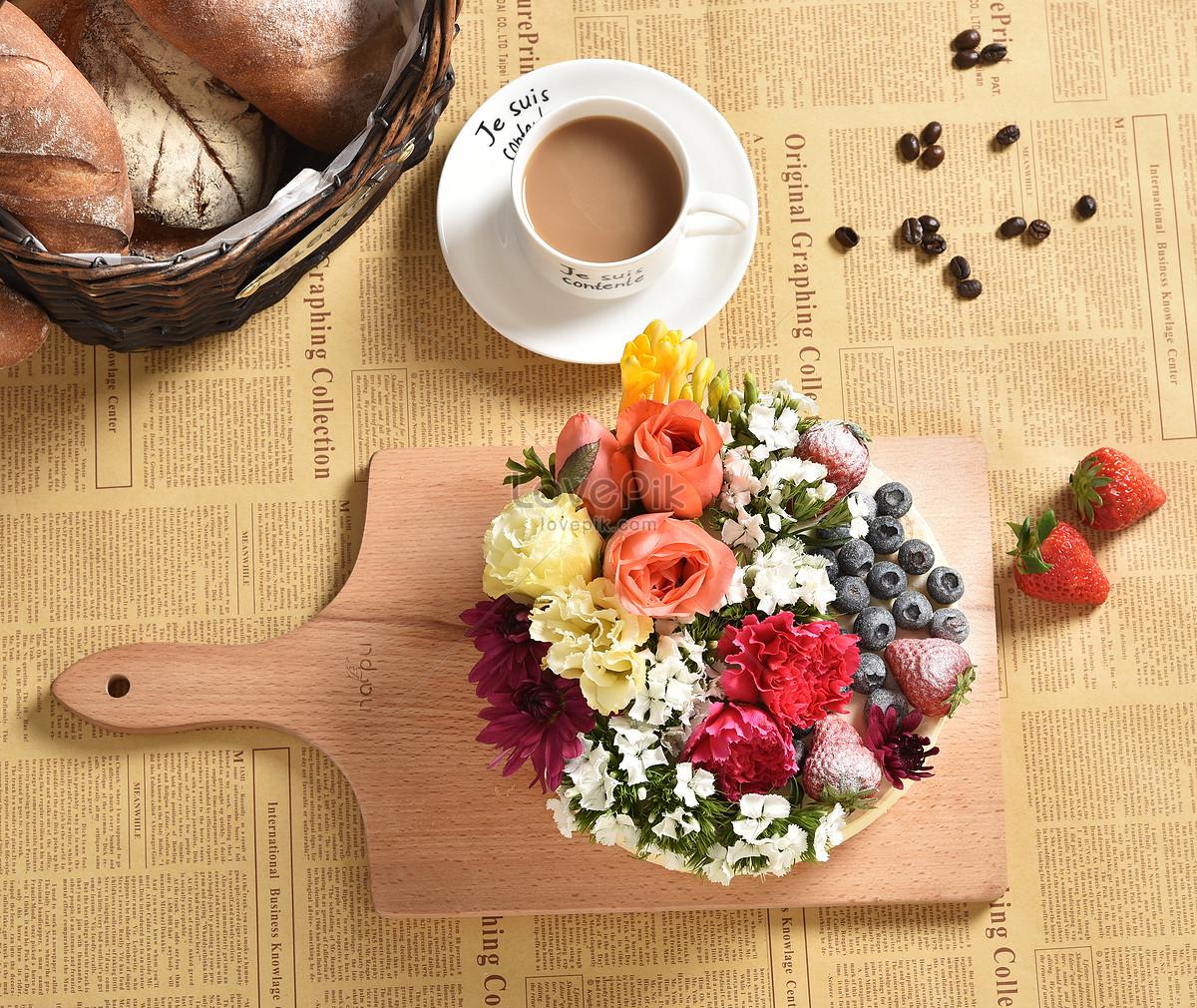 Flower Cake Fruit Birthday