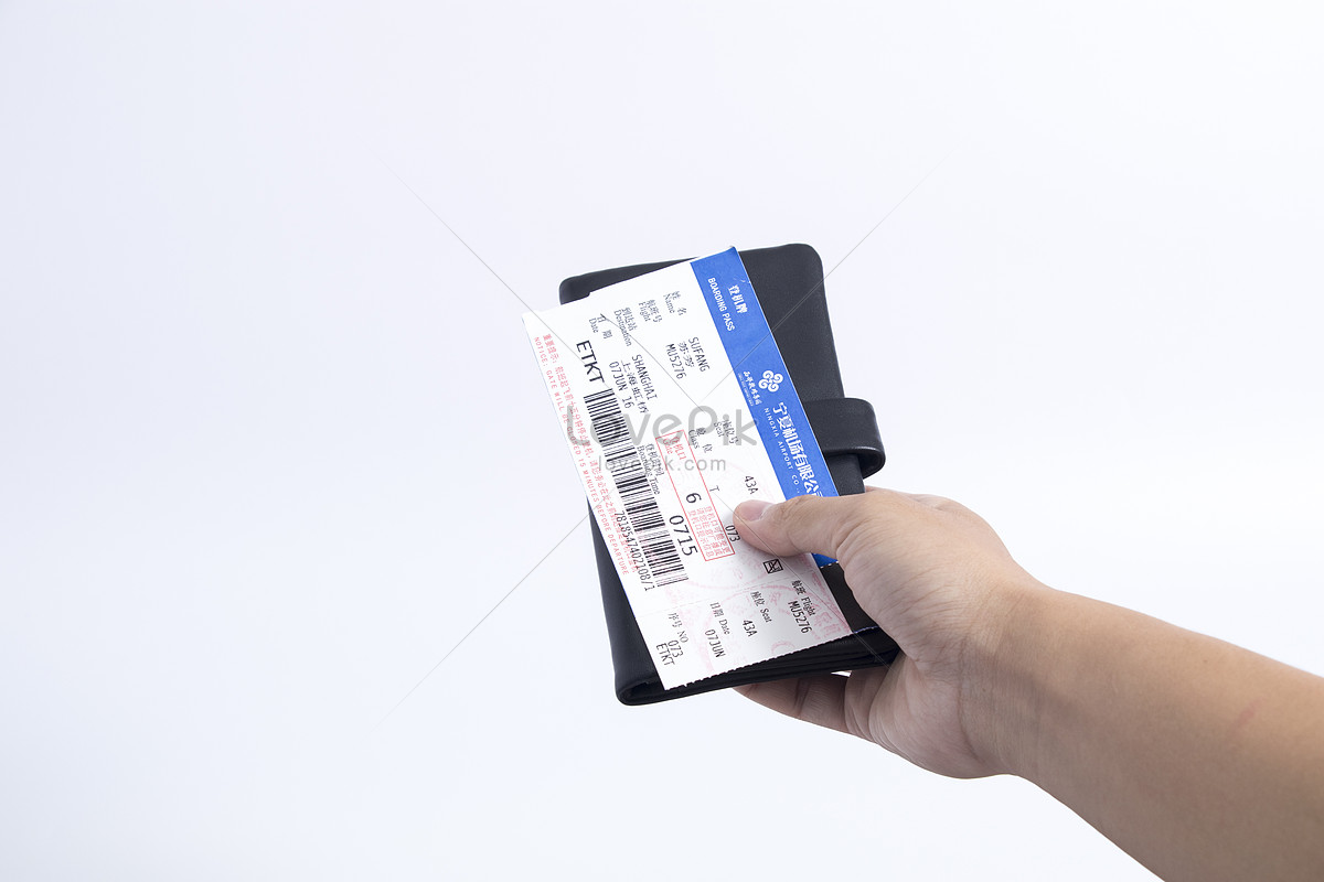 Travel With Black Wallet Boarding Pass Photo Image Picture Free
