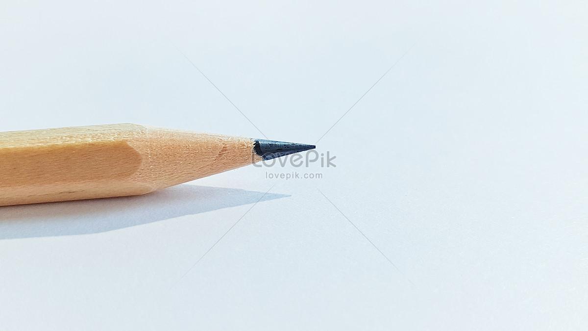 Pensil Mudah Dengan Kertas Putih Gambar Unduh Gratis Imej