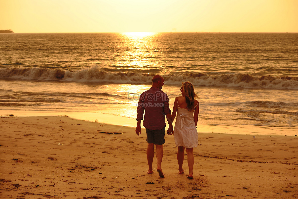 Valentines Day Beach Sweetheart Photo Image Picture Free Download