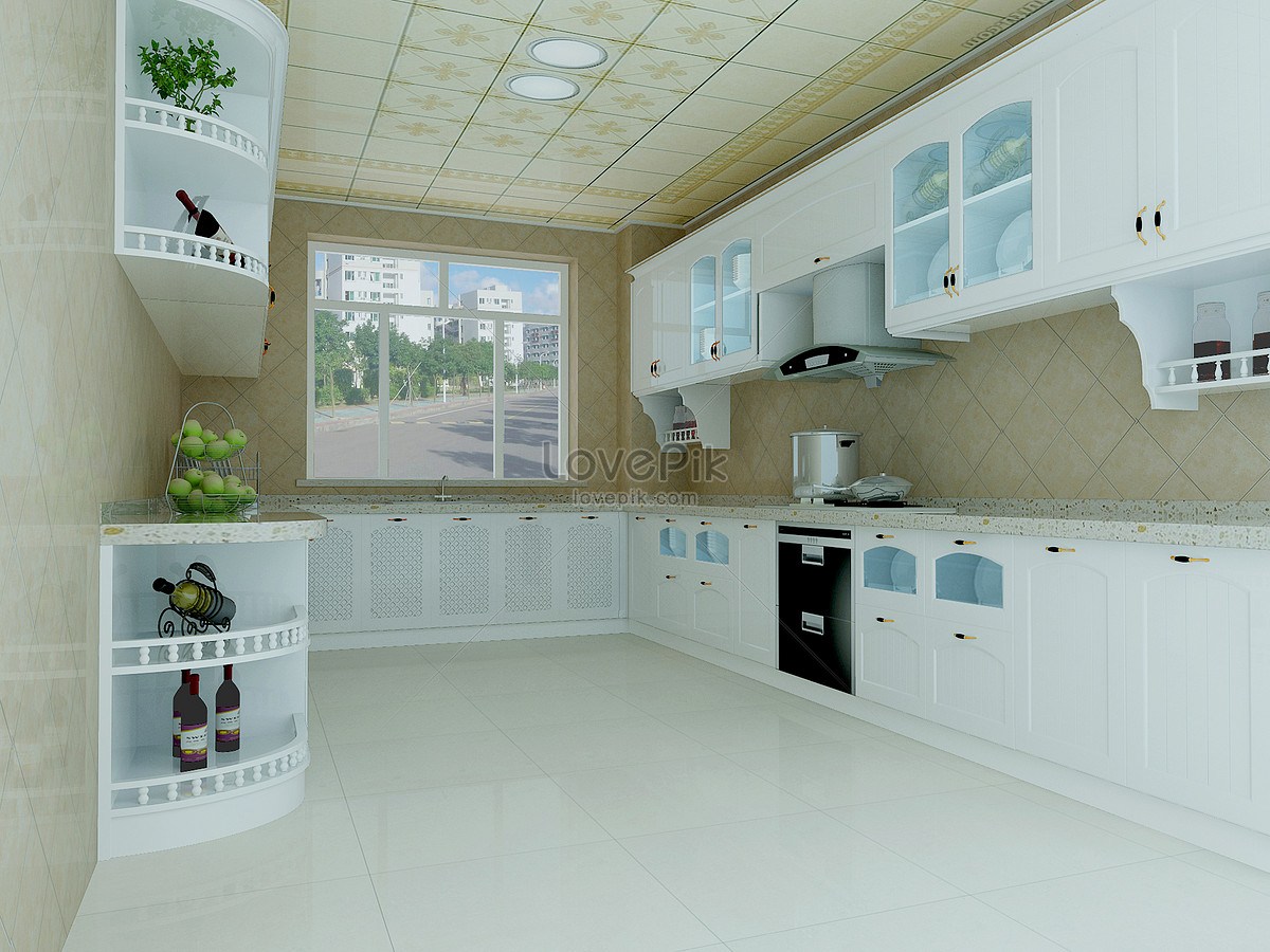 Cold color kitchen effect map photo image_picture free download ...