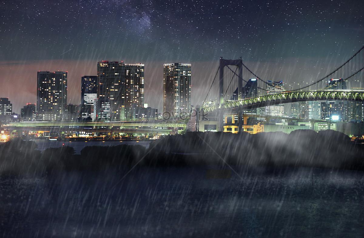 Yağmurlu Bir Gün Arka Plan şehir Arka Plan Resimfotoğraf Numarası