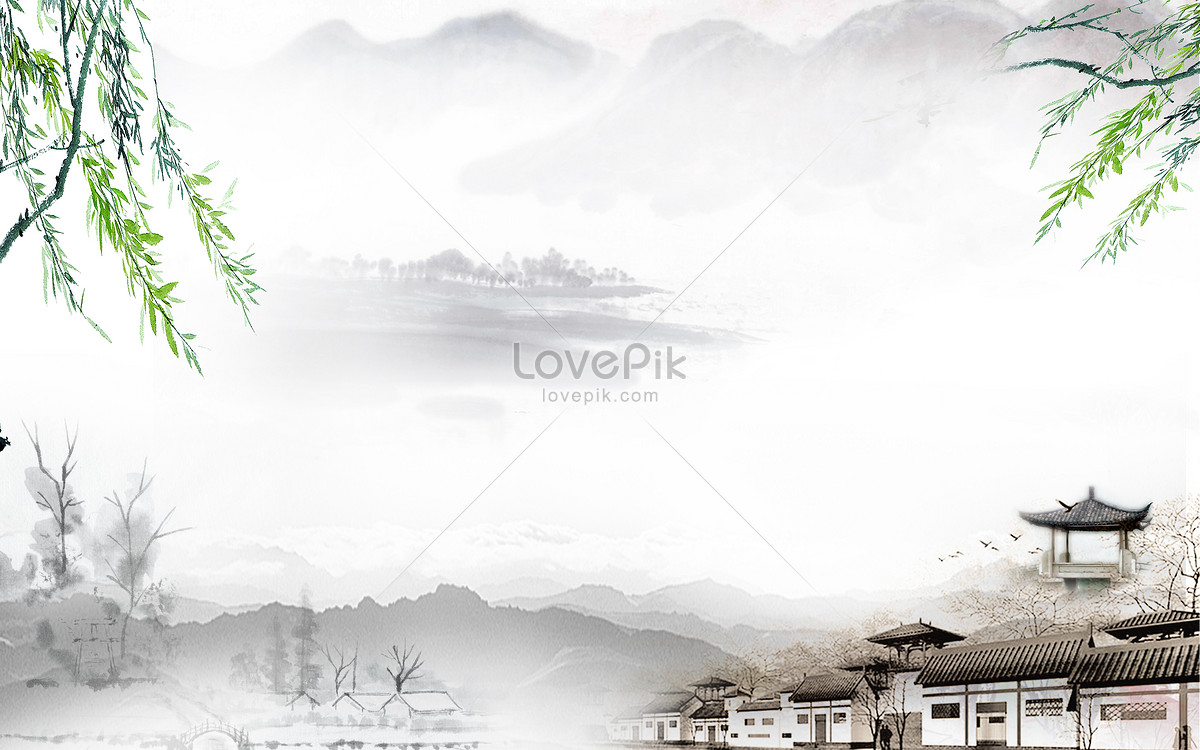 The clear background of chinese feng shui ink backgrounds - Feng shui wallpaper ...