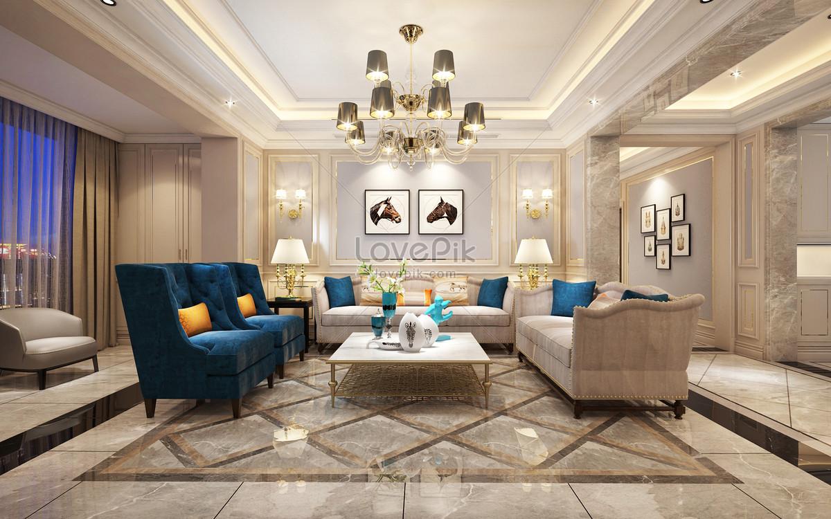 Simple European Style Interior Design Effect