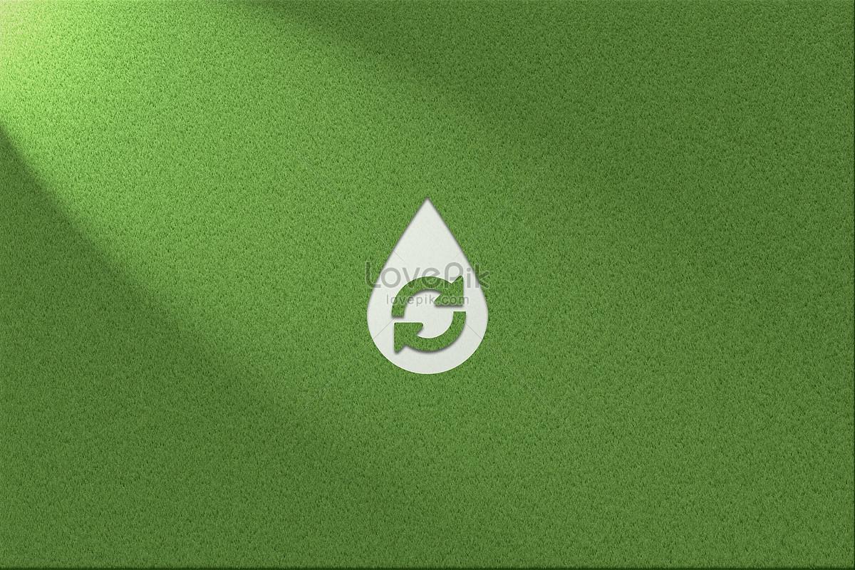 Yeşil Ve Sağlıklı çim Arka Plan Su Kaynakları Logosu Resimyaratıcı